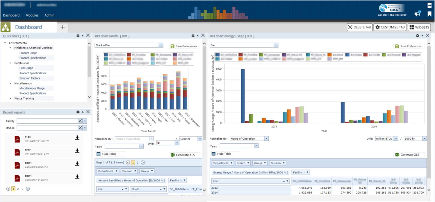 Example of ERA Environmental Software.